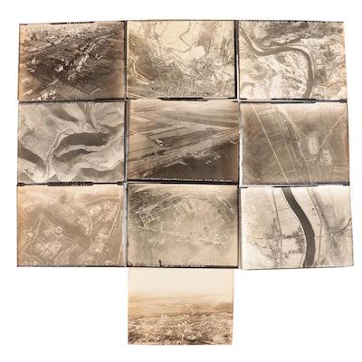 World War I Era Silver Gelatin Aerial Reconnaissance Photographs