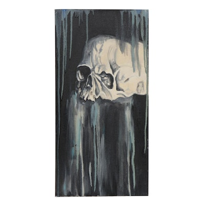 Patrice Roberts Skull Oil Painting