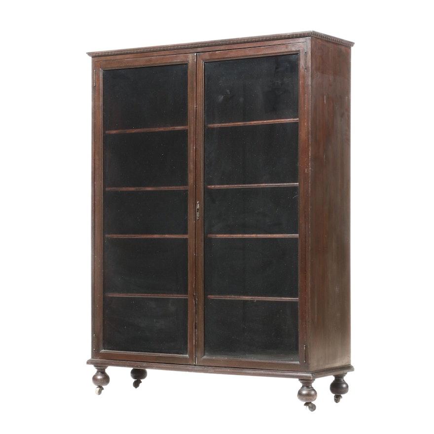 Mahogany Glazed-Door Bookcase, Early 20th Century
