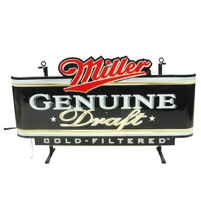 Artlite Display Miller Genuine Draft Illuminated Back Bar Tavern Sign