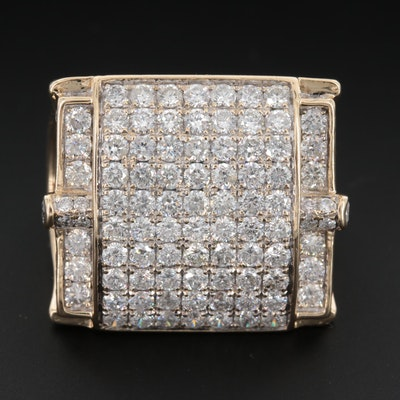 14K Yellow Gold 4.04 CTW Diamond Ring