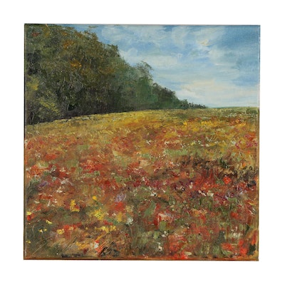 "Garncarek Aleksander Oil Painting ""Poppy Fields"""