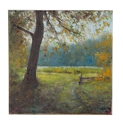 """Garncarek Aleksander Oil Painting """"Clearing"""""""