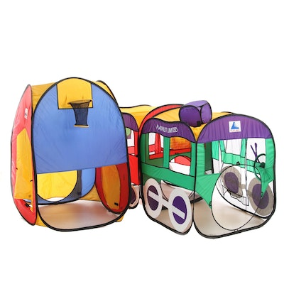 Play Hut Limited Foldaway Basketball Tent and Express Train with Caboose
