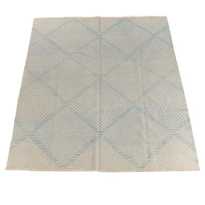8'4 x 9'9 Handwoven Afgani Soumak Wool Area Rug