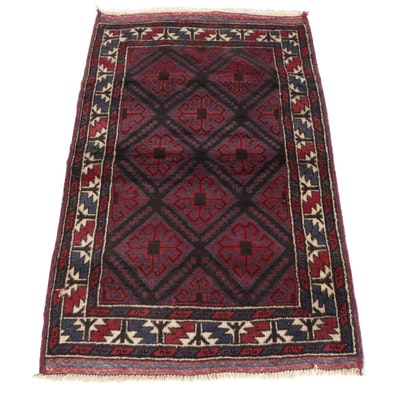 3' x 5'1 Hand-Knotted Afghani Beluch Wool Tribal Rug