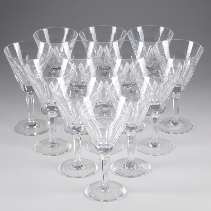 "Waterford ""Sheila"" Crystal Water Goblets"