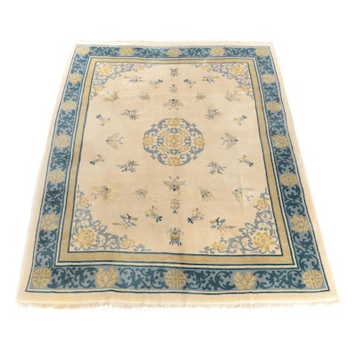 8'9 x 12'2 Hand-Knotted Chinese Room Sized Wool Rug