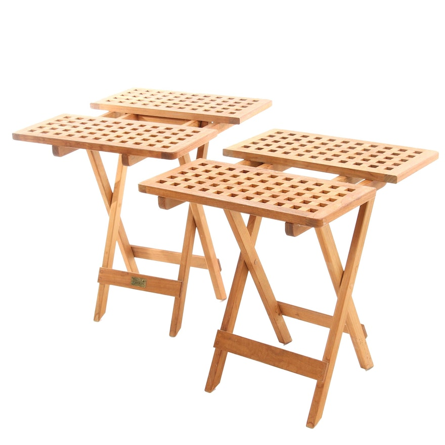 Smith & Hawkins Teak Outdoor Folding Side Tables