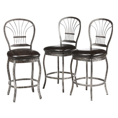 American Heritage Billiards Swivel Barstools, Contemporary
