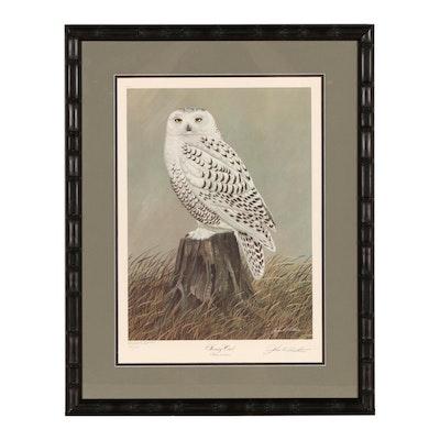 "John A. Ruthven Offset Lithograph ""Snowy Owl"""