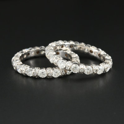 18K White Gold 2.84 CTW Diamond Eternity Bands