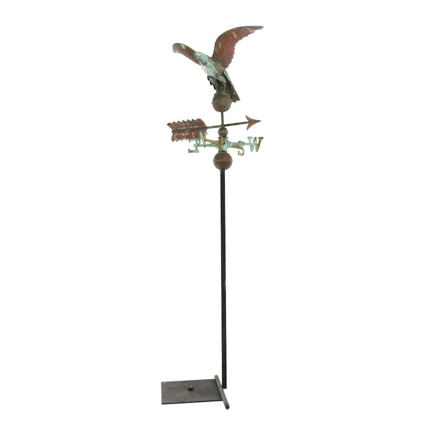 Ver-de-Gris Metal Eagle Weathervane