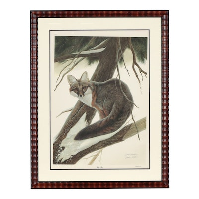 "John A. Ruthven Offset Lithograph ""Gray Fox"""