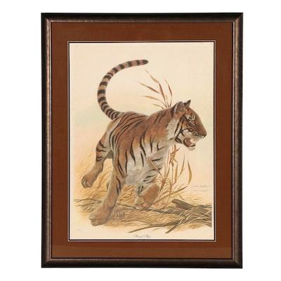 "John A. Ruthven Offset Lithograph ""Bengal Tiger"""