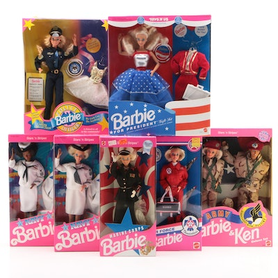 """Barbie Dolls featuring Military Themes and """"Barbie for President"""""""
