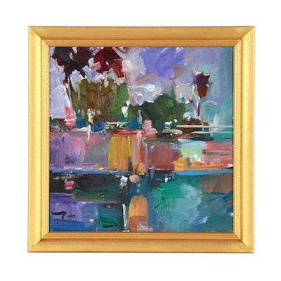 "Jose Trujillo Oil Painting ""Dancing Light"""