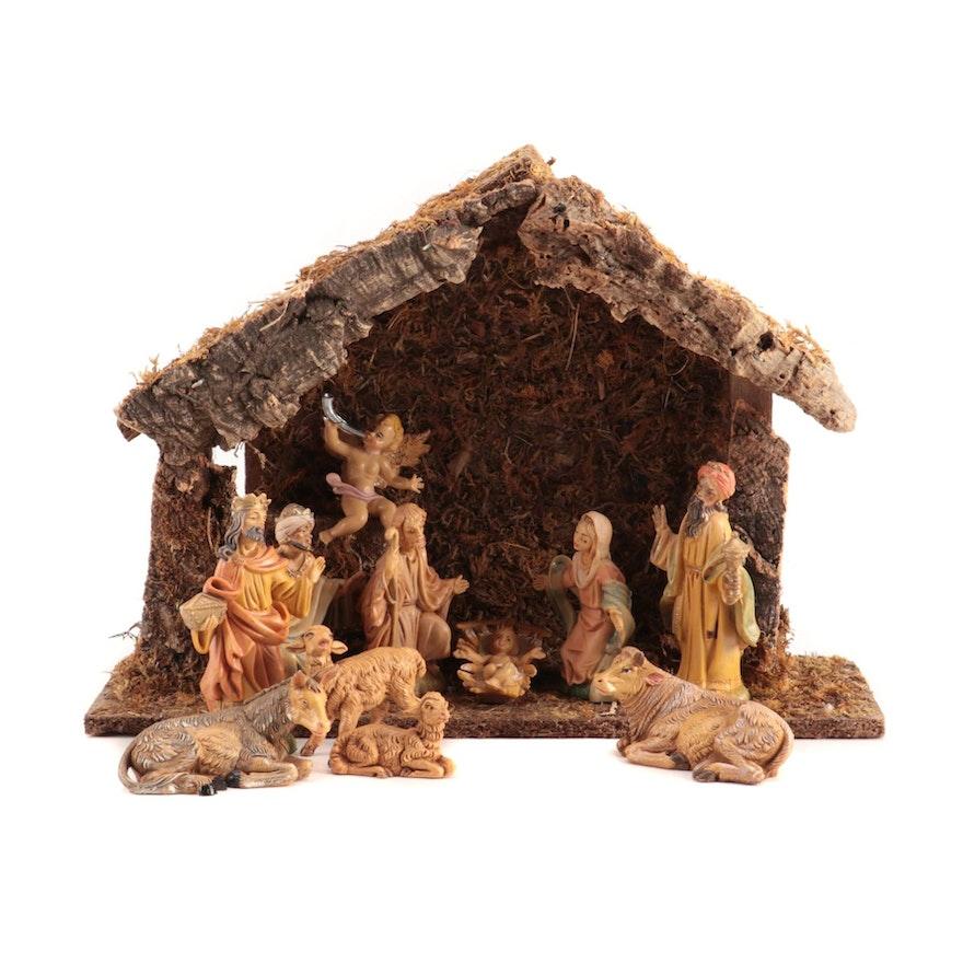 Italian Nativity Set with Manger