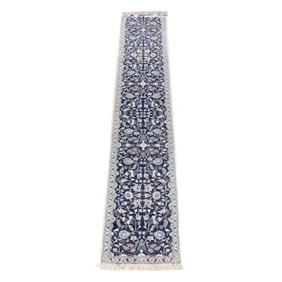 2'5 x 14' Hand-Knotted Persian Nain Wool Carpet Runner