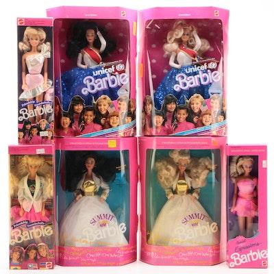 "Barbie Dolls including ""UNICEF Barbie"", ""Friendship Barbie"", and More, 1990s"
