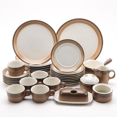 """Mikasa Potter's Art """"Buckskin"""" Dinnerware Pieces, 1977-1989"""