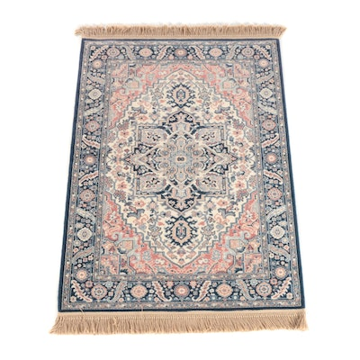 "4'4 x 6'9 Machine Made Karastan ""Blue Heriz"" Wool Area Rug"