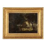 C.L. Pierrepont Barbizon School Landscape Oil Painting