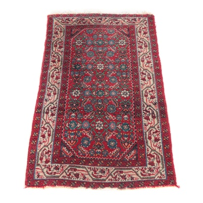 2'8 x 4'3 Hand-Knotted Persian Herati Wool Rug