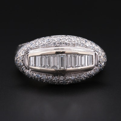 De Hago 18K White Gold 1.03 CTW Pavé Diamond Ring