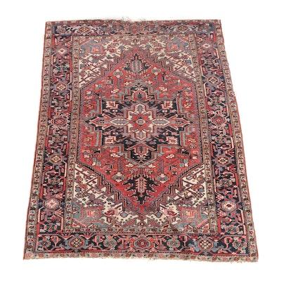 6'1 x 8'3 Hand-Knotted Avakian Bros Persian Heriz Wool Rug
