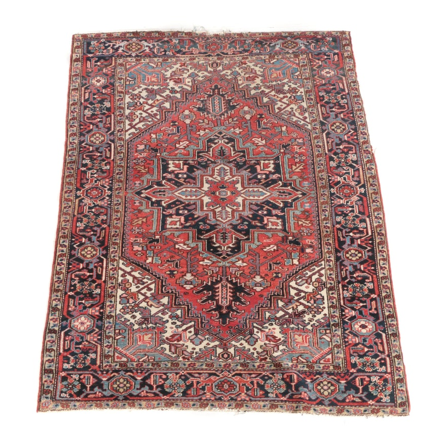 6'1 x 8'3 Hand-Knotted Avakian Bros Persian Heriz Wool Rug