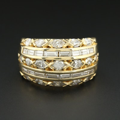18K Yellow Gold 3.05 CTW Diamond Ring