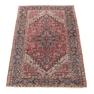 6' x 9'2 Hand-Knotted Persian Darjezine Wool Rug