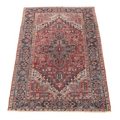 6' x 9'2 Hand-Knotted Persian Darjezine Wool Rug