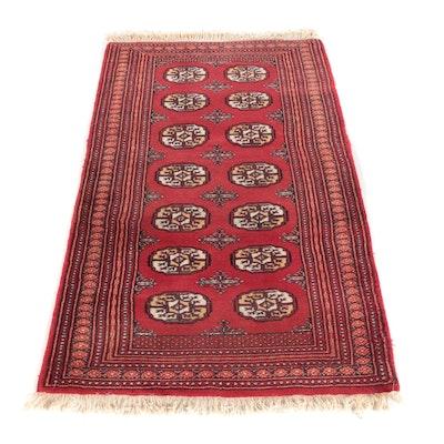3'1 x 5'4 Hand-Knotted Pakistani Bokhara Wool Rug