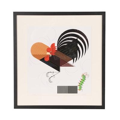 "Charley Harper Serigraph ""Crawling Tall"""