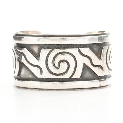 Los Castillo Sterling Silver Cuff Bracelet