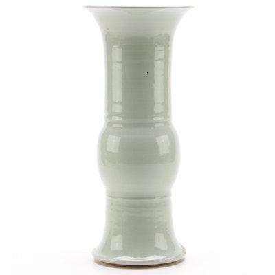 Chinese Celadon Baluster Ceramic Vase