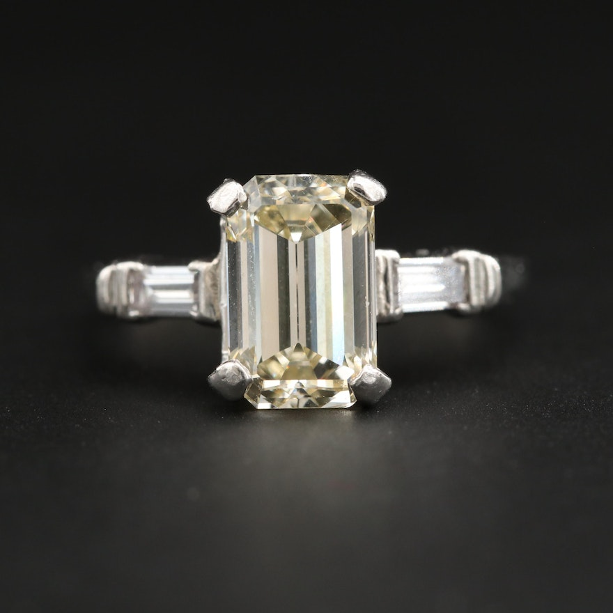 Platinum 2.27 CTW Diamond Ring