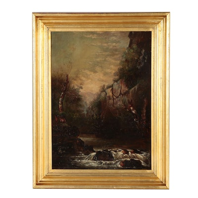 Barbizon School Landscape Oil Painting
