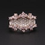 14K White Gold 1.50 CTW Diamond Cluster Ring