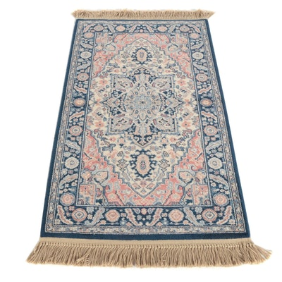 "2'11 x 5'9 Machine Made Karastan ""Blue Heriz"" Wool Area Rug"