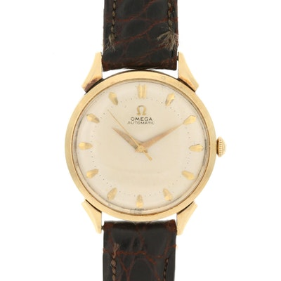 14K Gold Omega Automatic Wristwatch