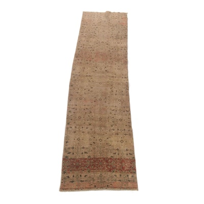 2'6 x 9'8 Hand-Knotted Turkish Tribal Runner Rug, Vintage