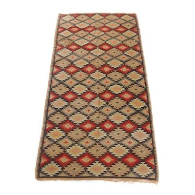 4'2 x 8'2 Handwoven Turkish Kilim Rug, Early 20th Century