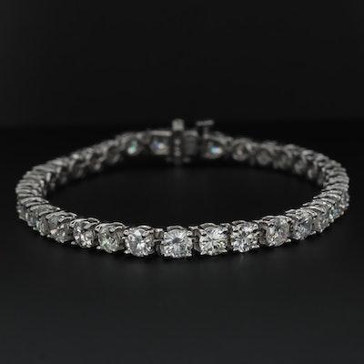 14K White Gold 10.71 CTW Diamond Tennis Bracelet
