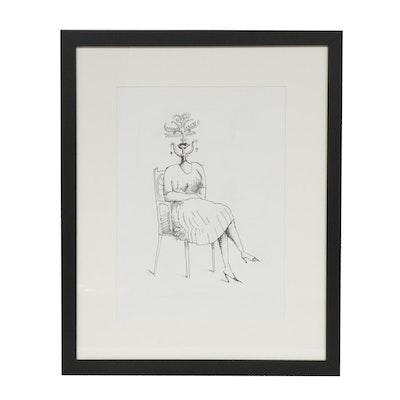 """Saul Steinberg Lithograph for """"Derrière le Miroir"""""""
