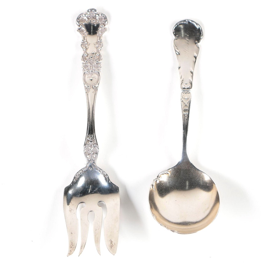 """Gorham """"Buttercup"""" and Reed & Barton """"Luxembourg"""" Sterling Serving Utensils"""