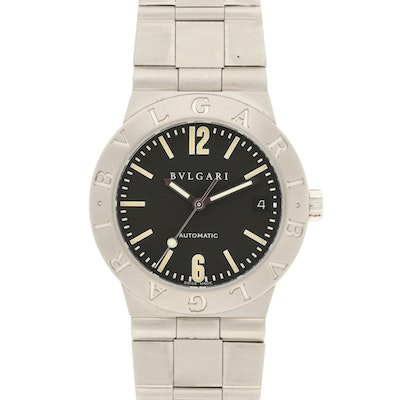 Bvlgari Diagono Stainless Steel Automatic Wristwatch
