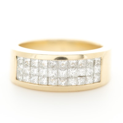 14K Yellow Gold 1.50 CTW Diamond Ring